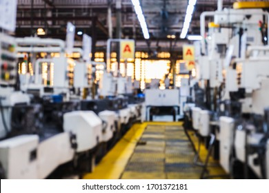 Machine stopped No orders Manufacture effect Covid 19 In industrial plants Unemployed Bad economy Shut down suddenly Work from home venom covid 19 Backdrop blur