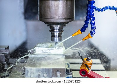 machine tool working in factory