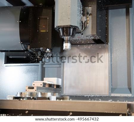 Machine Tools Computer Numerical Control CNC Stock Photo (Edit Now