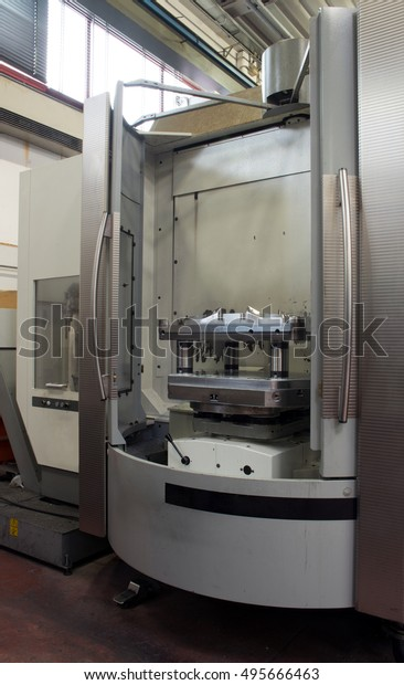 Machine Tools Computer Numerical Control Cnc Stock Photo (Edit Now