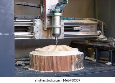 Machine working cnc, mechanical wood cutter