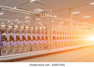 Machinery and equipment in a spinning production company