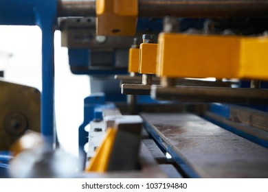 Machinery with gears and metal