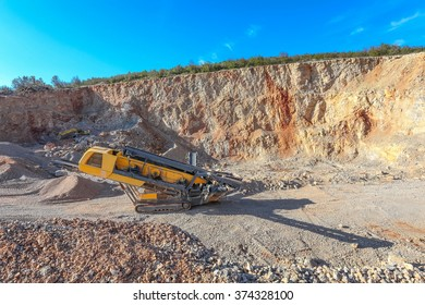 Machinery in the gravel pit