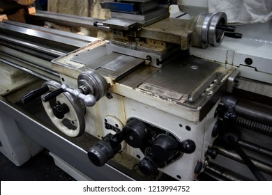 Machinery industry background, craft turning metal cutting machines.