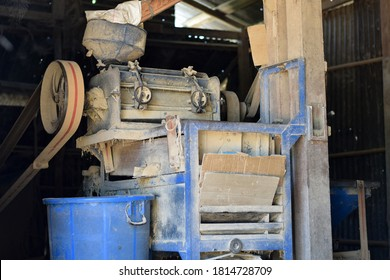 Machinery in an old rice mill