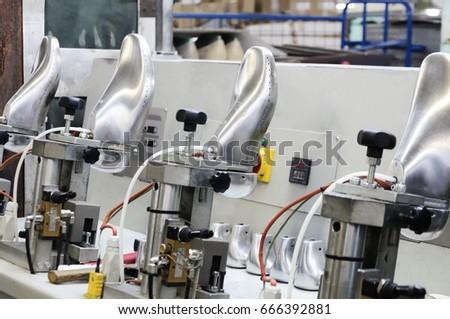 e29fd6b6cb9d69 Machines Equipment Shoe Factory Modern Footwear Stock Photo (Edit ...