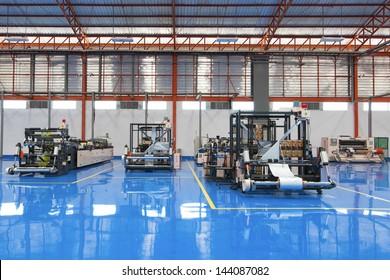 Machines in factories