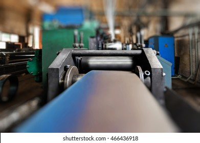 Machines for metal rolling at factory