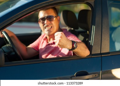 Macho type of driver about to lose it