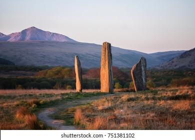 The Machrie Moor standing stones on Arran.