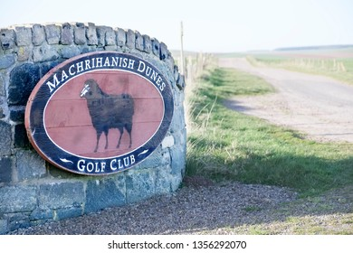 Machrihanish, Argyll and Bute / Scotland - March 31st 2019 : Newly opened golf club and course in remote Scottish village