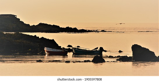 A Machrihanish golden hour by the famous golf courses and whisky factories on the Mull of Kintyre.