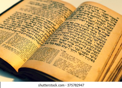 Machsor Lemberg from year 1907 printed by Daavid Balaban. The machsor  is the prayer book used by Jews on the High Holidays . February 11,2016; Prague, Czech republic