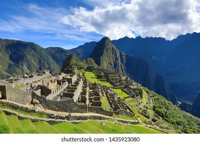 Machu Pìcchu Landscape Sanctuary Inca Civilization
