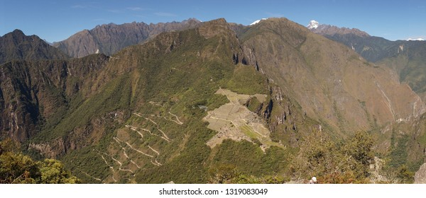 Machu Picchu Jungle Mountain Views coming from the Salkantay Trek near Cusco, Peru.