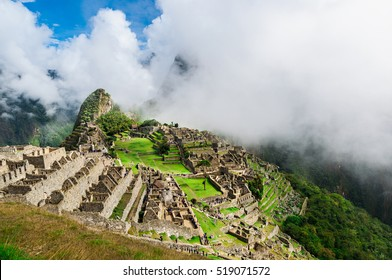 Machu Picchu. Lost city of Inkas in Peru mountains.