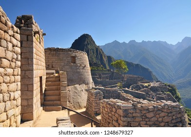 Machu picchu (old mountain), pre columbian inca site situated on a mountain ridge above the urubamba valley in Peru.