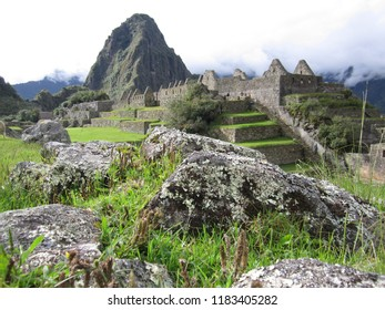 Machu Picchu, Peru - May 13, 2017: A scenic view of the ancient ruins of Machu Picchu during the day.