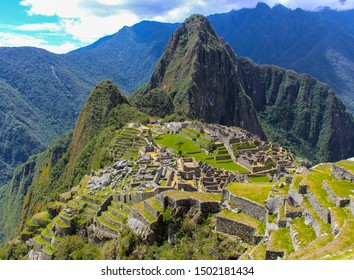 Machu Picchu, Peru - September 30 2014: Macchu Picchu city