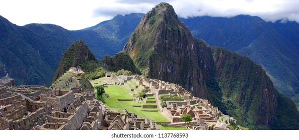 Machu Picchu or Machu Pikchu Quechua machu old, old person, pikchu pyramid; mountain or prominence with a broad base which ends in sharp peaks