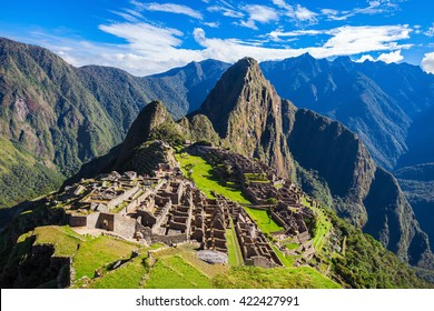 Machu Picchu, a UNESCO World Heritage Site in 1983. Machu Picchu is a one of the New Seven Wonders of the World.
