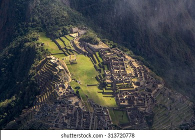 Machu Picchu. View from the mountain of Machu Picchu.