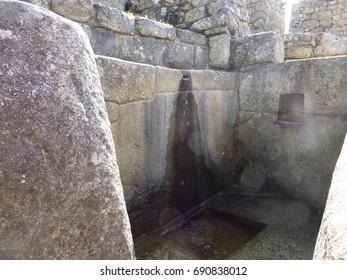 Machu Picchu's water fountain