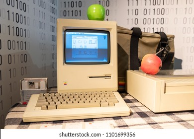 Macintosh personal computers designed, manufactured by Apple Inc. Saint-Petersburg, Russia. May, 06, 2018