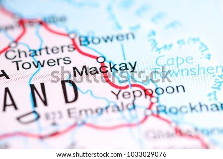 Mckay Australia Map.Mackay Australia On Map Stock Photo Edit Now 1033029076 Shutterstock