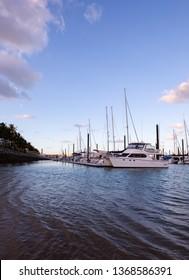 Mackay Harbour at dusk - Mackay, Queensland, Australia