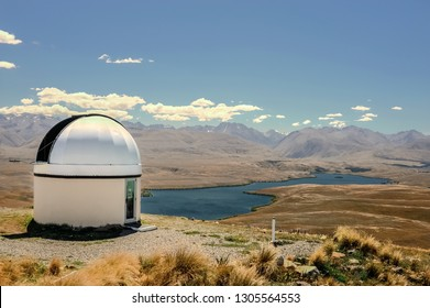 Mackenzie District, Canterbury Region/ New Zealand - Circa Feb 2010:  Lake Tekapo's spectacular, unpolluted night skies attract visitors from all over the world.