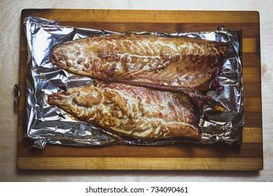 mackerel baked on coals