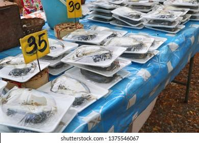 Mackerel at the market