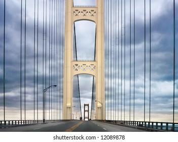 Mackinac Bridge, Between Michigan's Lower Peninsula And Upper Peninsula