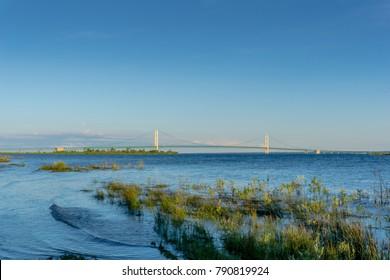 Mackinac Bridge connecting Michigan to UP Michigan!
