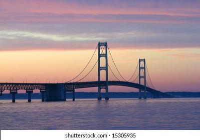 The Mackinac Bridge located in Michigan.