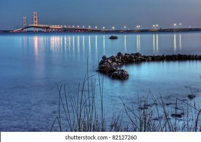 The Mackinac Bridge from Straits State Park