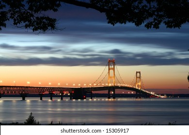 The Mackinaw Bridge located in Michigan.