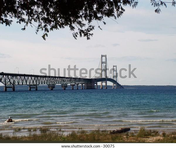 Mackinaw bridge in Michigan.