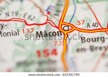 Macon France Map.Macon France Stock Photo Edit Now 642381784 Shutterstock