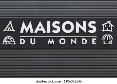 Macon, France - May 27, 2018: Maisons du Monde logo on a wall. Maisons du Monde is a French furniture and home decor company founded in Brest in 1990