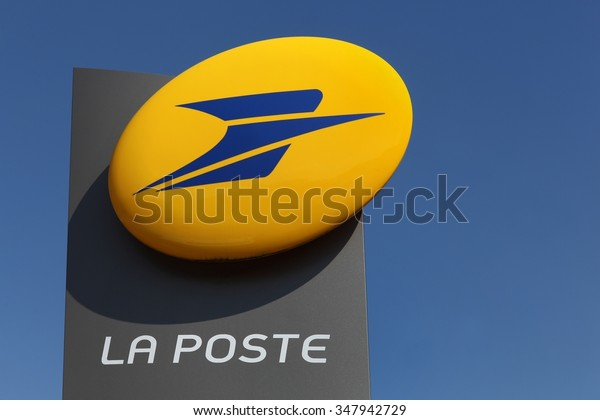 Macon, France - September 21, 2015: La Poste is a postal service company in France, operating in metropolitan France as well as in the five French overseas departments