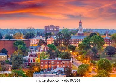 Macon, Georgia, USA historic downtown skyline.