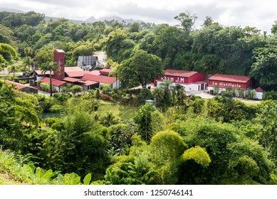 Macouba, Martinique, France - Oct 08 2018: The picturesque rum distillery JM in Macouba in West Indies