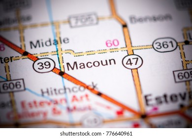Macoun. Canada on a map.