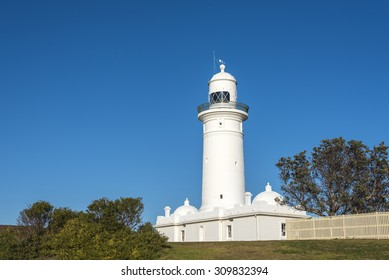 Macquarie Lighthouse with blue sky