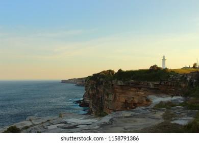 Macquarie lighthouse at sunset - Sydney - Australia