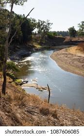 The Macquarie River near Warren, in NSW, Australia