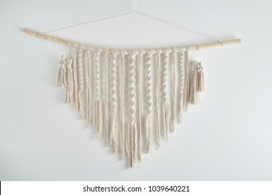 Macrame. Decoration for the interior.